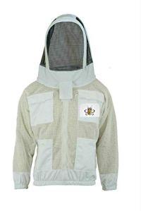 Bee Suit 3 couches de sécurité unisexe blanc tissu maille apiculture veste veste apiculture escrime voile vêtements de protection apiculture vêtements apiculture vêtements de protection apiculture-XL
