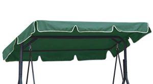 Ferocity Toit de Rechange pour balancelle Canopée pour Balancelle de Jardin balançoire Soleil Toit résistant au Soleil Taille 200 x 120 cm Vert [101]