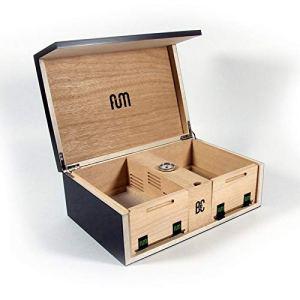 Grande boîte de conservation avec tamis couleur noire – Fum Box
