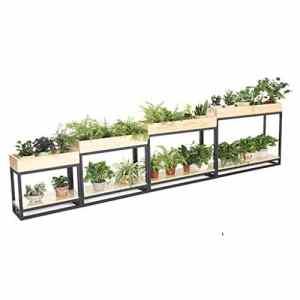 G-ZWJXX Plante en Bois Massif Contenant Fer forgé Restaurant partition étagère de Fleurs Convient pour Les Jardins, balcons, Salons, Restaurants, Mariages