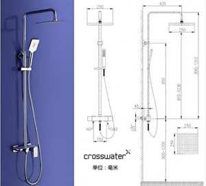 Luxurious shower Nouvelle arrivée en laiton robinet de douche salle de bains de luxe avec grande assiette pour la tenue d'accessoires