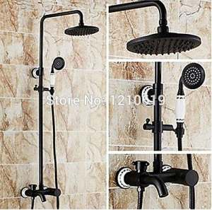 Luxurious shower Nouvelle Livraison Vente en gros et au détail de meubles de style Bronze robinet de douche Douche en céramique Set de montage mural Main