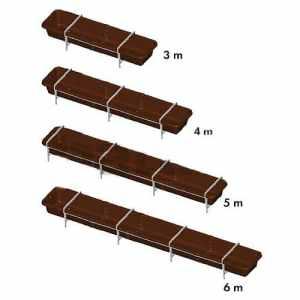 Mangeoire en plastique, 5 m, avecstructure galv. et 4 barres anti-chutes – 351205