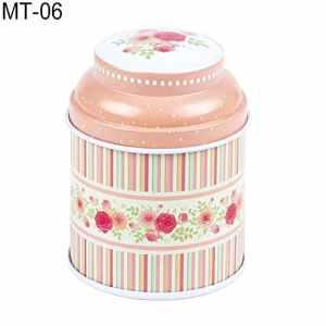 Mflbefulmel vintage Fleurs Cylindre Mini Tin Coque Candy Thé Package Conteneur Boîte de rangement vintage Boîte à bijoux fer blanc Coque Cadeau Candy Pilulier Boîtes à dragées pour mariage Mt-06