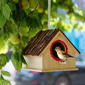 Nid D'oiseau ,Herbe De Paille Tissée House Nid d'oiseaux Matériaux pour Nids pour Colombe Bouvreuil Roitelet Moineau