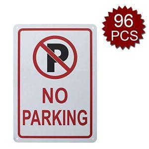 Panneau en Aluminium avec Inscription « No Parking », étanche et Durable, 17,8 x 25,4 cm, No Parking/96pcs, 7″ W x 10″ L