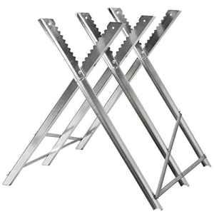 TecTake Chevalet de sciage réglable – diverses modèles au choix – (Argent / Type 401492)