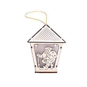 ZREAL Maison en Bois avec décorations de Sapin de Noël suspendues pour Les fêtes de Mariage, D