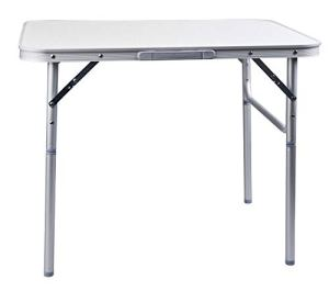 Camp Active Table de Camping Pliante en Aluminium 75 x 55 cm Table de Jardin Table d'appoint Pliable Table de Pique-Nique Table en Aluminium Pliable et réglable en Hauteur