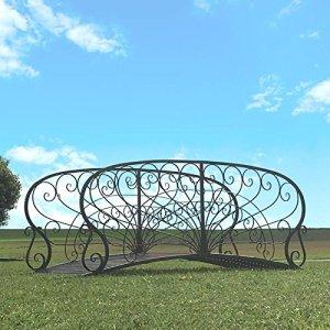 chemin_de_campagne Grand Pont de Jardin Passerelle de Ruisseau Fer Metal 250 cm