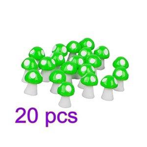 Cristoferv 20 pcs Micro Paysage Ornements Miniature Champignons Bonsaï Dollhouse-Bleu Jardin Décoration