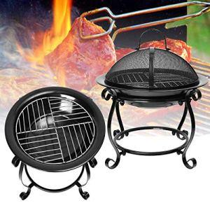 GEOPONICS BBQ extérieur de Cuisine Réchaud Pique-Nique Cheminée Fer Chauffage Barbecue Grill Garden Party Rack