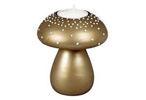 Glasteelichth.Pilz br.9×10,5cm / 6 Stück