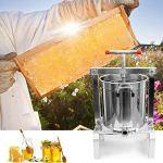 GRASSAIR Extracteur de Miel de ménage en Acier Inoxydable Outil d'apiculture de Cire de Presse Manuelle (10L)