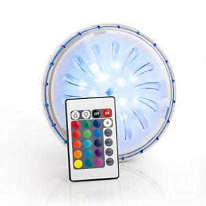 Gre PLED1C Projecteur LED Couleur pour Piscine Hors-Sol, Blanc, 15 x 15 x 3 cm