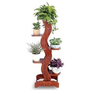 LYXPUZI Stand de fleurs Étagère murale rack unité moderne en bois 5 niveaux d'affichage plante stand de fleurs étagère salle de bains salon