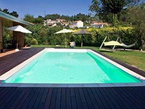 SunKit Piscine Acier rectangulaire 9x4x1.5m Liner Sable