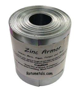 Zinc Armour–7,6cm de large bande de zinc, rouleau de 50pieds prévenir les algues, mousse, pour toits moisissures et moisissures