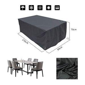 Bolerton Housse de Meuble de Jardin Étanche, Bâche Couverture de Protection Anti-UV Antipoussière pour Table Canapé Chaises à l'Extérieur Patio Terrasse (170 x 94 x 70cm)