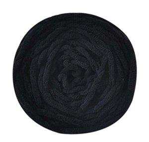Ensemble de 3 fils de coton au lait Écharpe tissée à la main Fils doux chauds, Noir