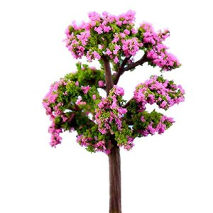 Namgiy 2x Miniature Décoration Décoration Plante Ornement Décor de Jardin extérieur Décoration de Maison DIY Craft Arbre, Rose Flower