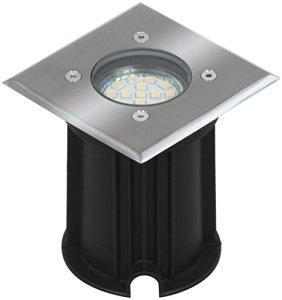 Spot de sol Smartwares 5000.459 Luton – Capacité de charge de 800kg – Raccord GU10