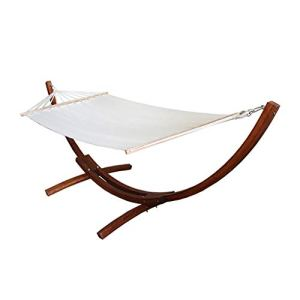 YANFEI Chaise d'apesanteur, Cadre en Bois de hamac extérieur, Le Cadre de balançoire de Support de Chaise Se Bloque, 110 * 110 * 310 cm (Couleur : Marron)