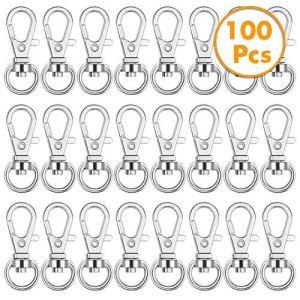 Anezus Lot de 100 crochets pour porte-clés pivotants et porte-clés