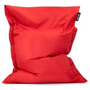 Bean Bag Bazaar®, Rouge, Pouf Géant pour Usage Intérieur et Extérieur Bazaar Bag, 180cm x 140cm, Pouf Poire résistant à l'eau