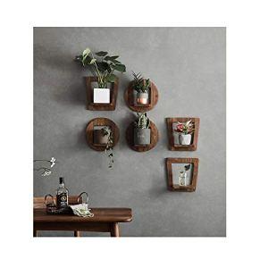 CHENGXI Jardinière murale/multifonction/mur/noyer noir jardinière d'intérieur/jardinière (Size : E)