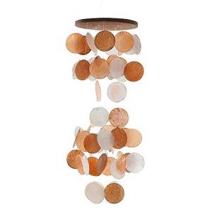 HAB & GUT -HA106- Carillon à Vent Orange/Blanc, Nacre, 60 cm, décoration de fenêtre, Mobile pour décorer fenêtre, Mur, Chambre, terrasse et Balcon