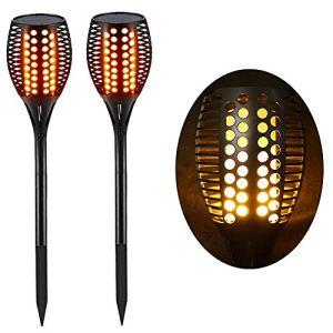 Lighting Arena Torche LED Extérieur étanche & Solaire – Décoration de Jardin – Effet Flamme – Lot de 2