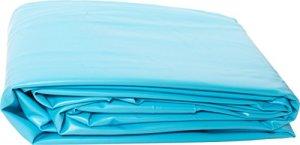 Liner PVC pour piscine poolomio, liner de grande qualité et résistant au froid, adapté aux piscines avec parois en acier de Ø 350 x 90 cm
