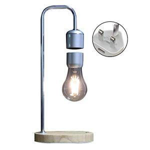 LOKJOM Accueil Lampe De Bureau LED Magnétique Lévitation Cadeaux Décor Tech Jouets Tuyau Coudé Flottant Ampoule Table en Bois Night Light Bureau Chambre,UK