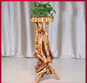 Racine de Support de Fleur de Bois Solide Racine de Plante intérieure de Salon de Balcon Grand (Couleur : B)