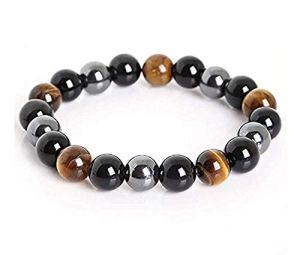ZK.nesi Bracelet en hématite Obsidienne Noire
