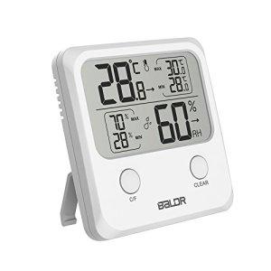 ABsuper Thermomètre/Hygromètre Intérieur, Température Humidité Numérique Électronique,℃/℉Commutable, Mémoire de Max/Min, Indication du Niveau de Confort,3 Façons d'utiliser pour Maison -Blanc