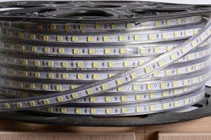 aftertech® Bobine Unique 100m LED Strip Bande d'extérieur 220V blanc froid 5500K