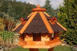 Deko-Shop-Hannusch Nichoir à oiseaux en bois traité avec bardeaux en asphalte