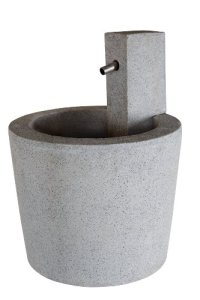 Esteras Fontaine de Jardin en Fibre de Verre 45 cm Granitgrau