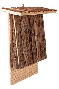 Gardigo 90569 – Nichoir à Chauve-Souris, Couleur et Bois Naturel Boîte, Hôtel pour Oiseaux Sauvages Maison Nid à Chauves-Souris, Bat Box Abri Naturel