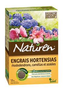 Naturen Engrais Hortensias Rhododendrons Camelias Azalees 1,5 kg