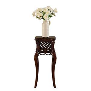 TongN Simple américain tout en bois massif support de salon support de salon européen rétro stand de fleur sculpté
