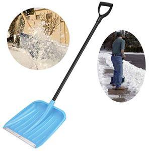 15″ Snow Scoop Pelle avec l'acier Large Pelle tête et poignée en Plastique légère et Extension 134 CM Acier poignée Duty Pelle à Neige pour Courtyard & Route