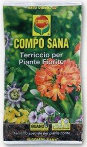 Compo Sana Terreau de qualité pour plantes fleuries en pack de 20litres