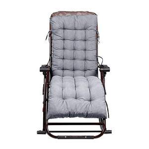 Coussin de Chaise Longue de Jardin – 155 x 48 x 8 cm (Chaise Non Incluse), gris