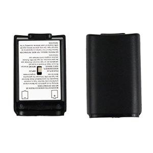 HONGIGI Kit de Protection pour Coque de Protection Universelle pour boîtier de Batterie pour Manette sans Fil Xbox 360 pour contrôleur de Batterie Noir de Haute qualité (Couleur: Noir)