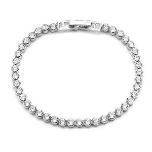 Lnlyin vintage Autriche Cristal Bracelet extensible Charm Bracelets Manchette Bracelets Mode Bijoux Meilleur Cadeau pour Femme, Alliage, Silver, 6.5″(16.5mm)