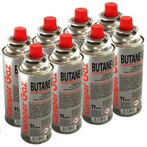Pack de 8 cartouches gaz 227g butane Bouteille de gaz UN 2037 standard 227 g – bonbonne pour réchauds camping