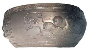 Mengyao Traditional Tigre Blanc de l'ancienne Chambre de Bol de Poissons de poterie de Beijing écologique Mousse Verte Respirant Peut Se développer sur Le Balcon Salon avec Patio extérieur
